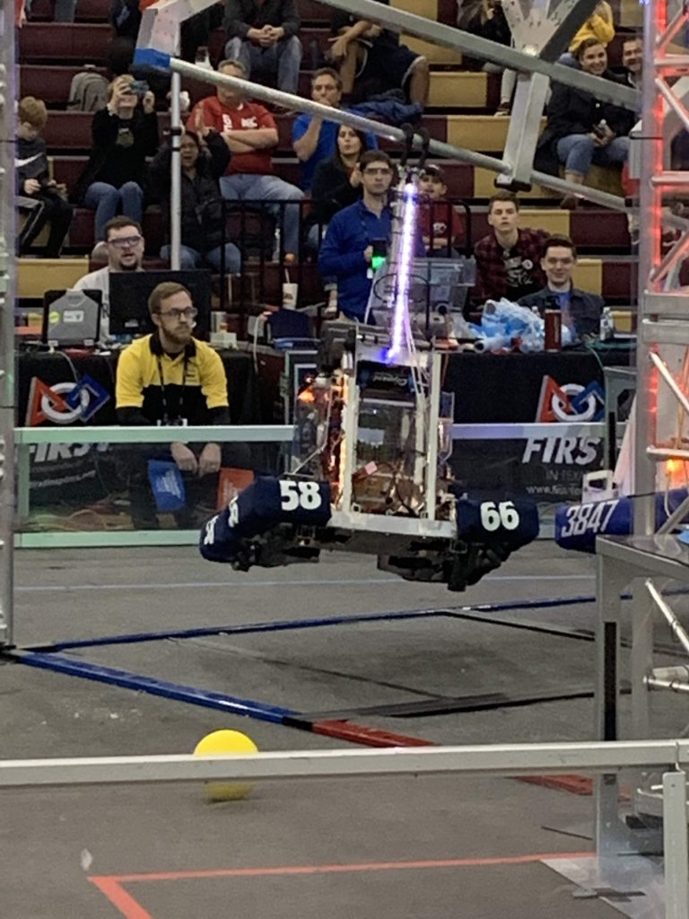 frenship's iron tigers robot during district competition
